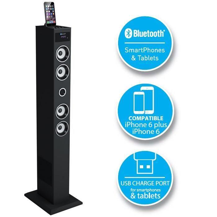 Enceinte colonne Bluetooth SoundVision 50B pour iPhone / iPod / iPad