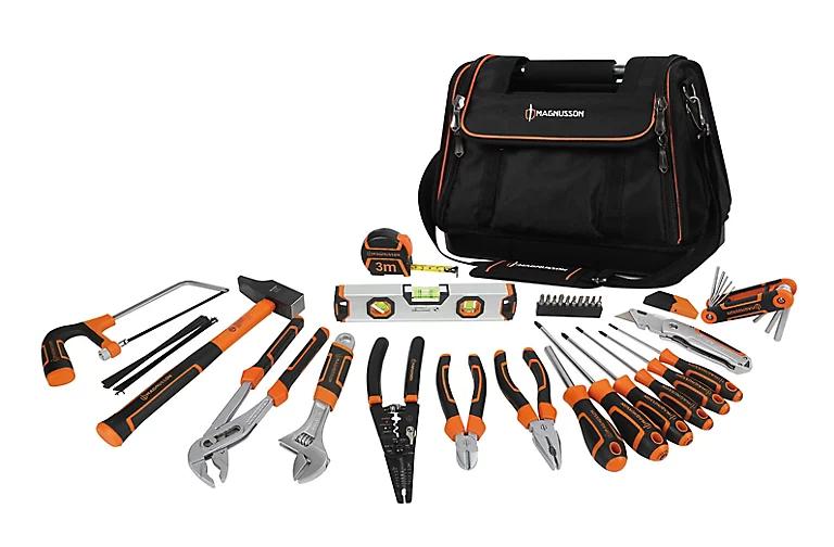 Lot de 45 outils Magnusson + sac