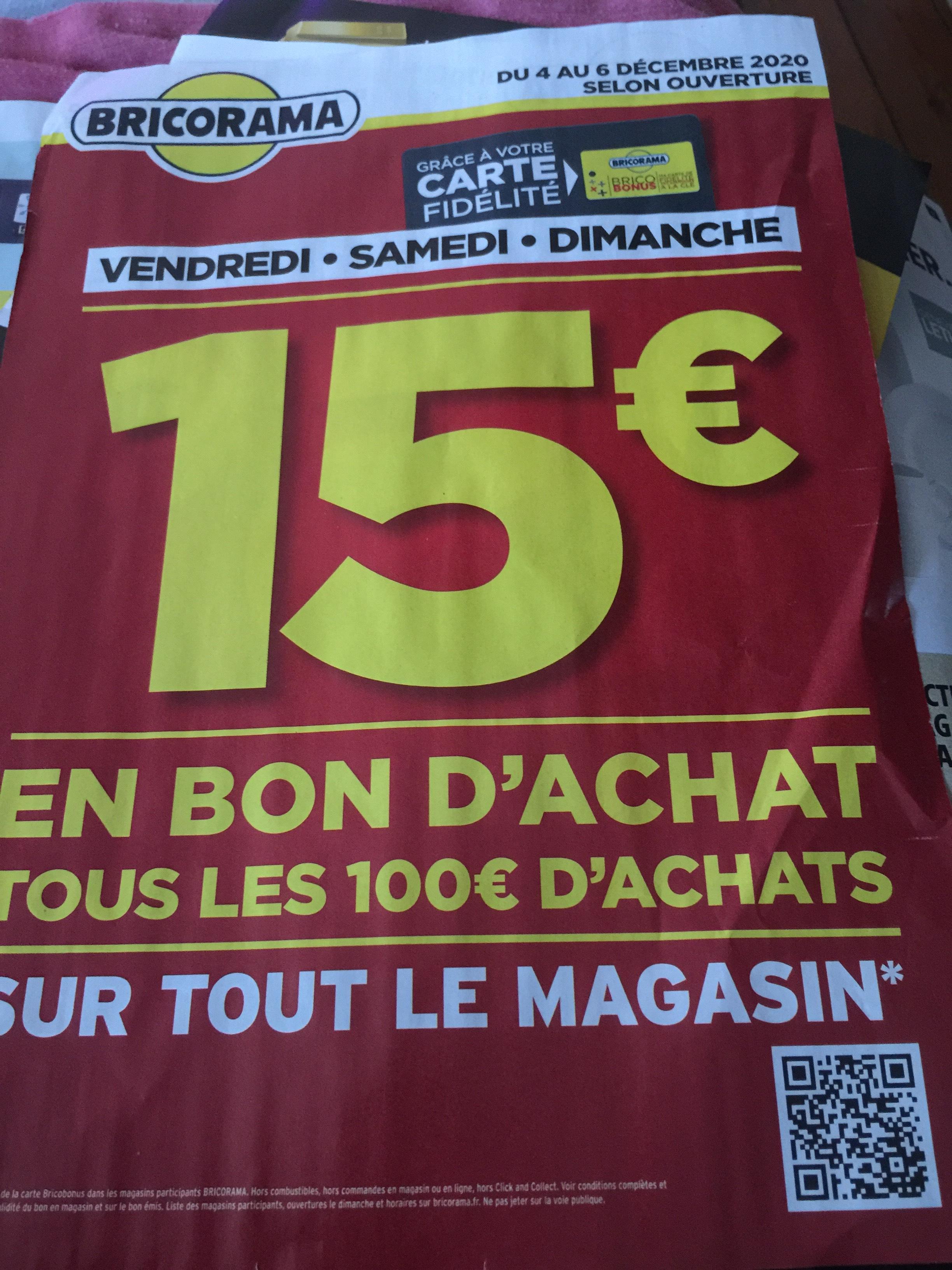 [Carte Fidélité] 15€ offerts en bon d'achat dès 100€ d'achat