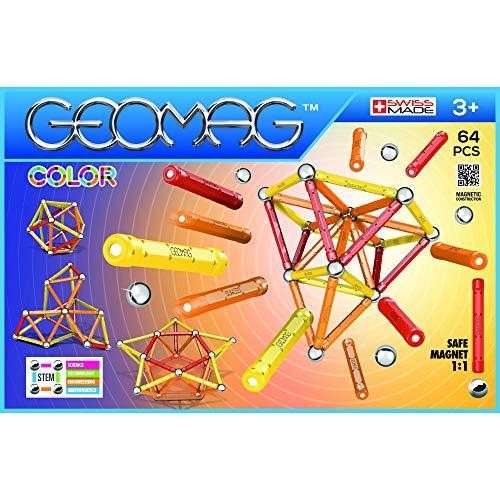 Constructions Magnétiques Geomag Classic 262 Color - 64 Pièces