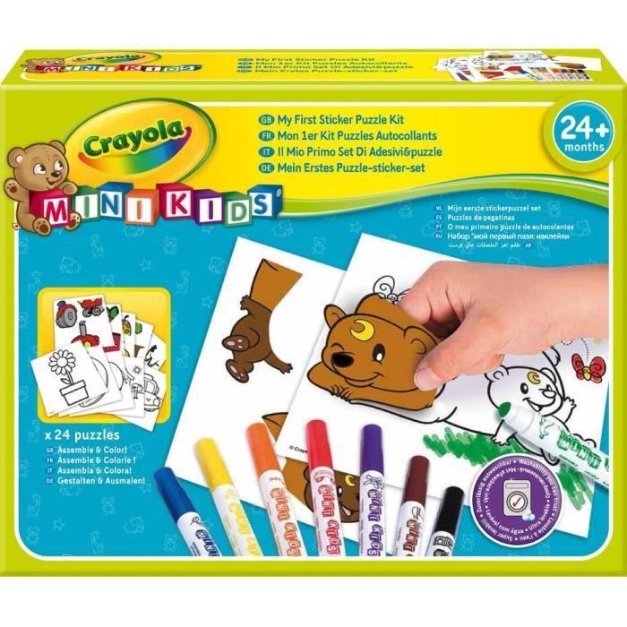Mon premier kit puzzle autocollant Crayola Mini Kids