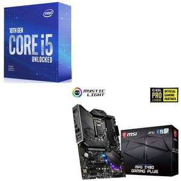 Kit Evo Processeur Intel i5-10600K + Carte mère MSI MPG Z490 Gaming Plus + Jeu Assassin's Creed Valhalla (Via ODR de 20€)