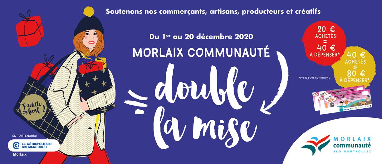 Chèque cadeau de 80€ pour 40€ valable dans une sélection de commerces - Morlaix (29)