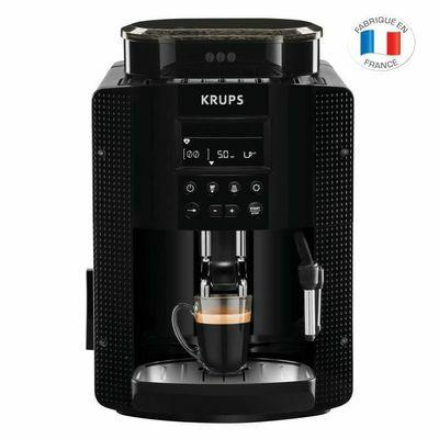 Machine à café automatique Krups YY8135FD avec broyeur à grains Essential - Ecran LCD, Pression 15 Bars, Noire