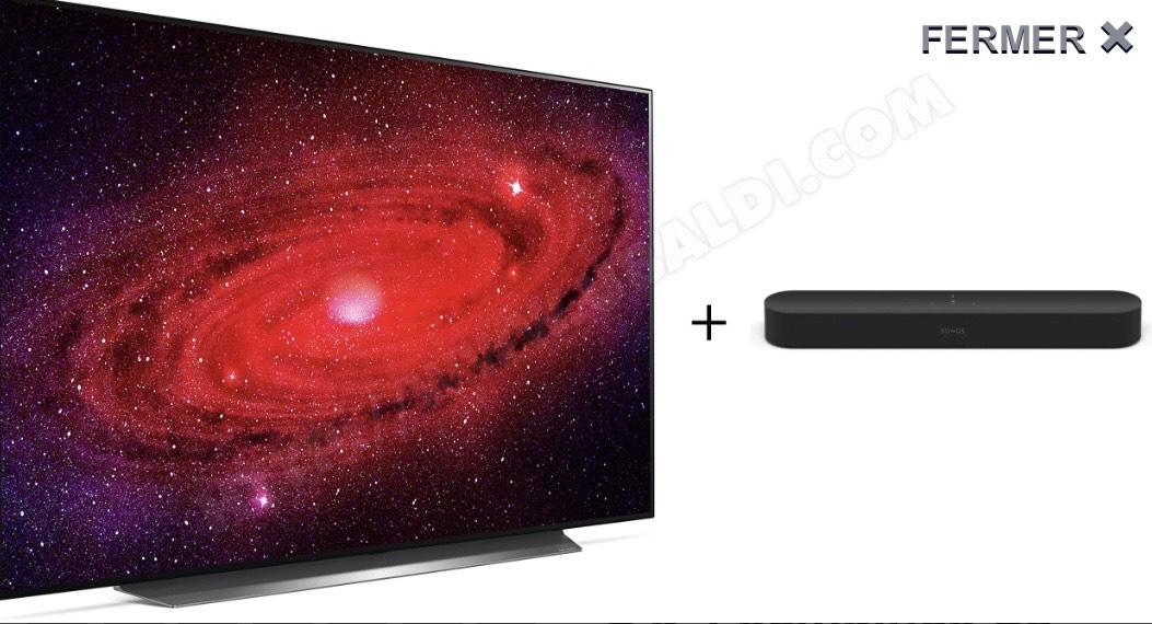 "TV 77"" LG OLED77CX - OLED, 4K UHD, 100Hz, Dolby Atmos/Vision + Barre de son Sonos Beam"