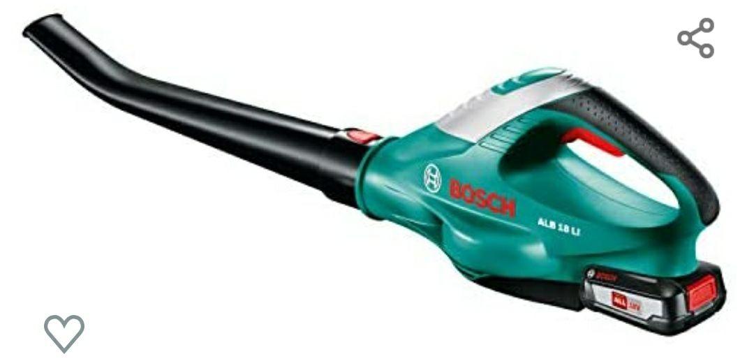 Souffleur sans fil Bosch Alb 18 Li - 1 Batterie 18 V 2,5 Ah, 210 Km/h, Vert