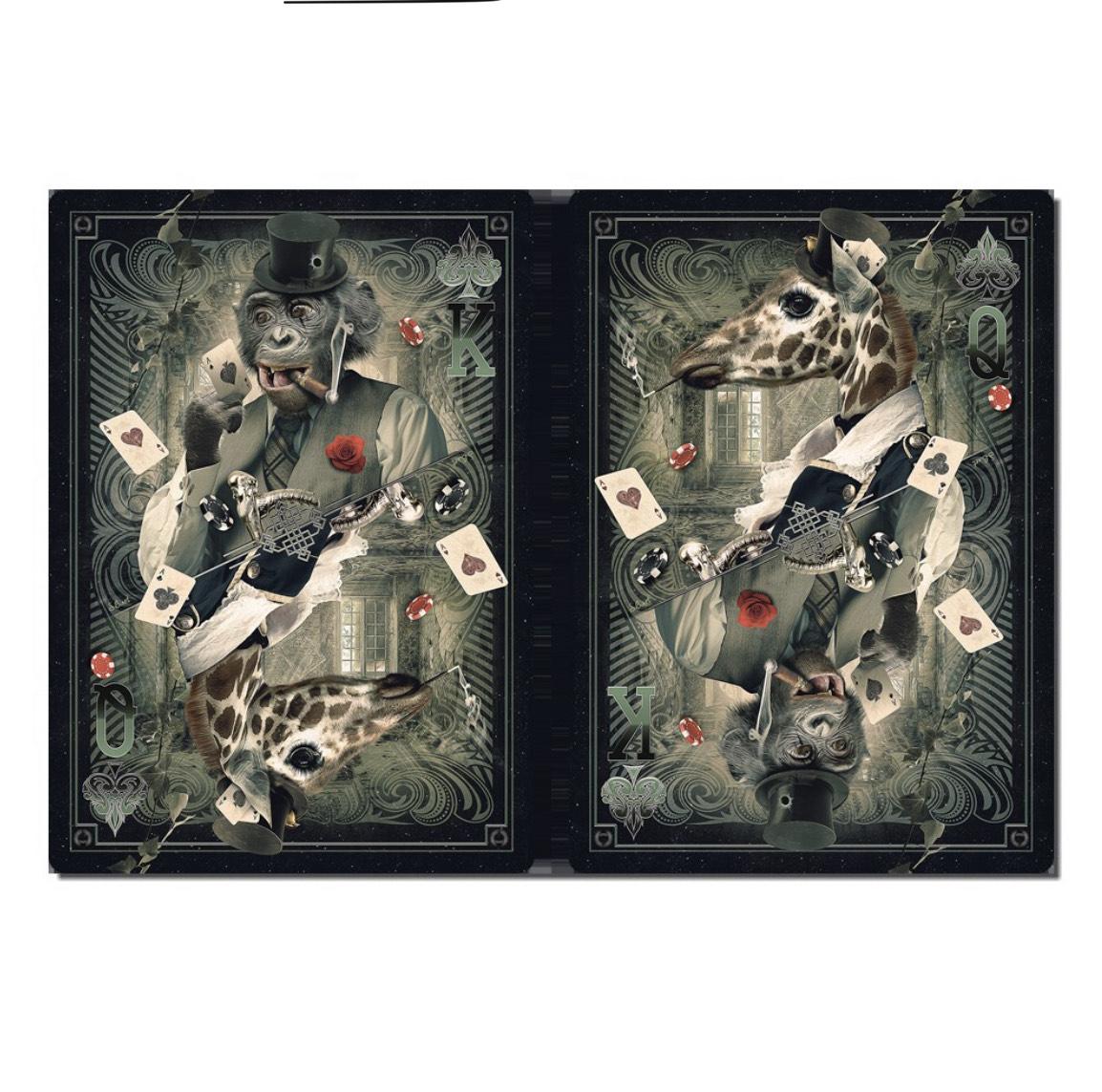 Tableau Poker Réversible Singe Girafe Sylvain Binet (ambiancecadres.fr)
