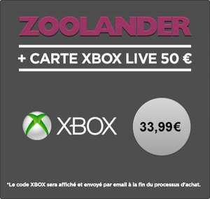 Carte Xbox Live de 50€ + location du Film Zoolander