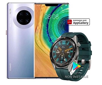"Smartphone 6.5"" Huawei Mate 30 Pro - 256 Go (Sans Services Google) + Montre connectée Huawei Watch GT"