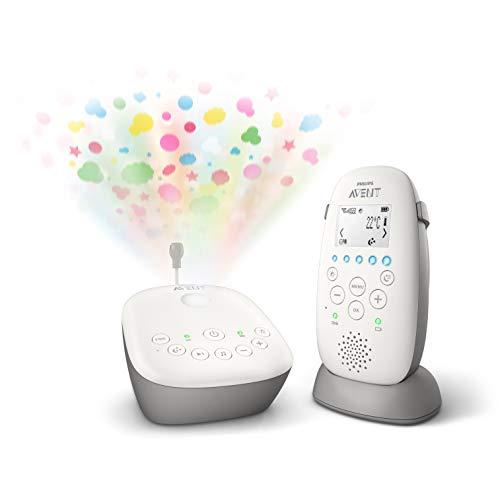 Babyphone Philips Avent SCD733/00 - Mode Smart ECO, Ecran LCD, Socle de charge, Alerte vibration et pleure, Mode nuit, Projecteur d'étoiles