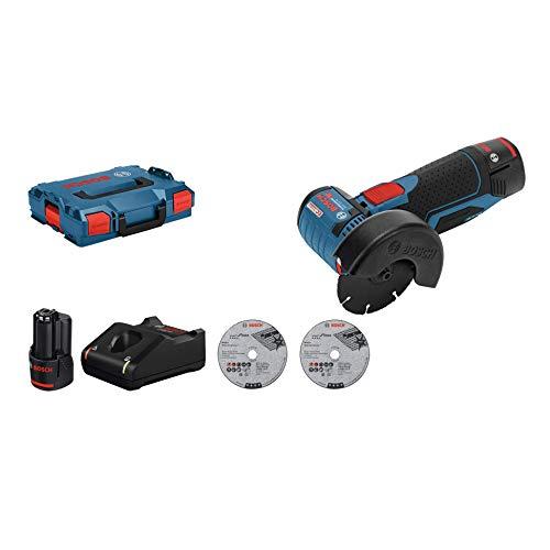 Meuleuse d'angle Sans Fil Bosch Professional GWS 12 V-76 (Batterie 2 x 3 Ah) L-Boxx