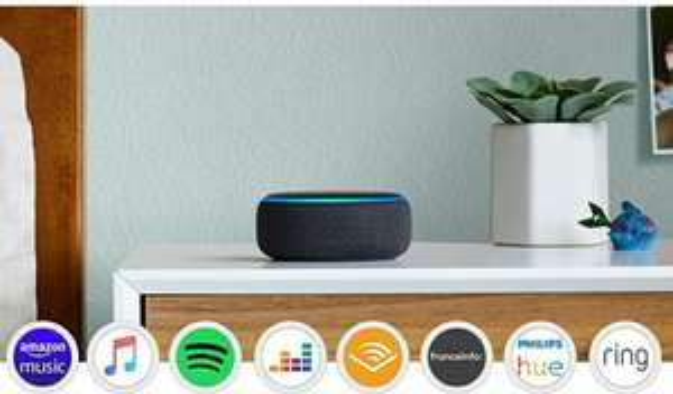 Enceinte connectée Echo Dot (3ème génération) avec Alexa, Tissu anthracite