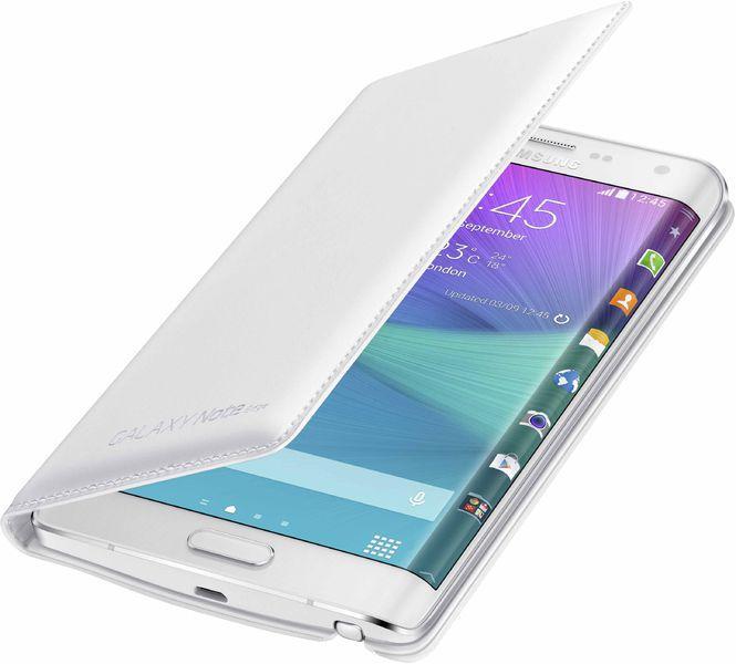 Etui à rabat Wallet Cover pour Samsung Note Edge - Blanc