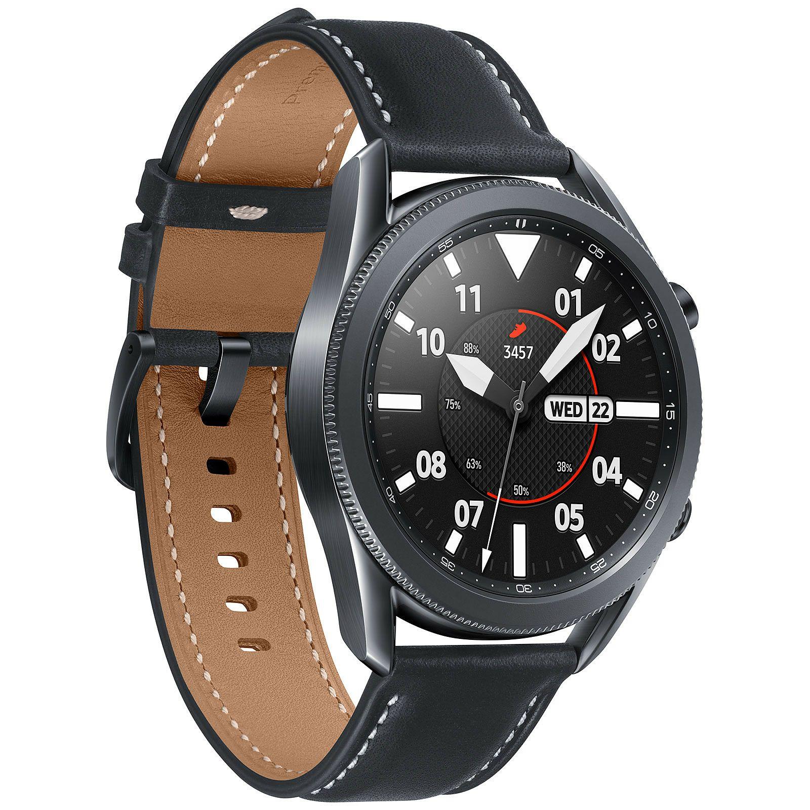 Montre connectée Samsung Galaxy Watch 3 - 45 mm, noir (Via retrait 1H & ODR de 70€)