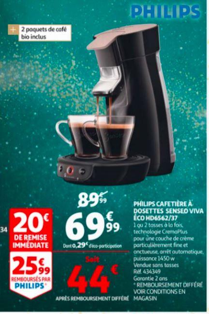 Cafetière Senseo Viva Café Eco Phillips (avec ODR de 25.99€)