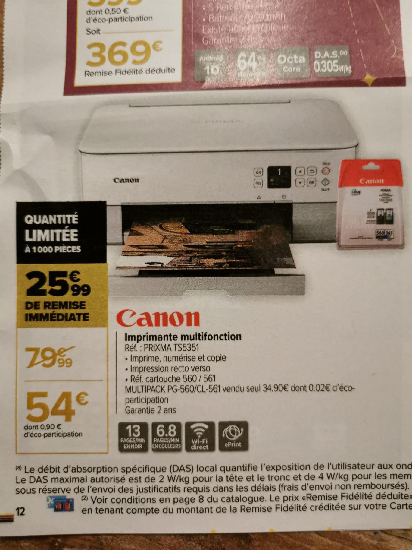 Imprimante Canon prixma TS5351