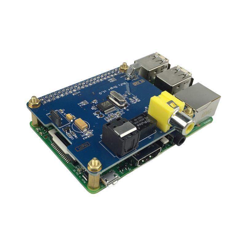 carte son optique/coaxiale numerique et boitier adapté pour raspberry pi 2