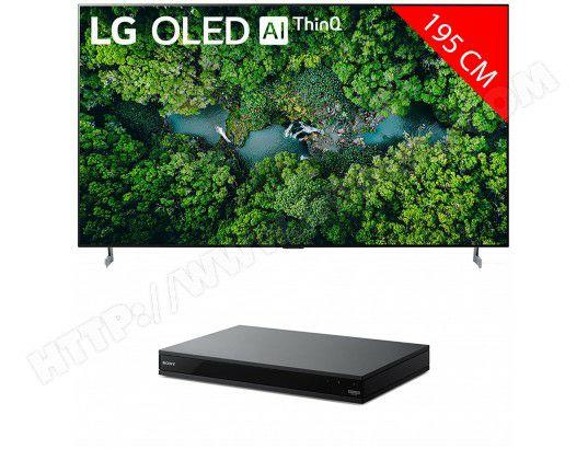 "TV OLED 77"" LG OLED77ZX - 8K + Lecteur Blu-Ray 4K Sony UBPX800BM2"