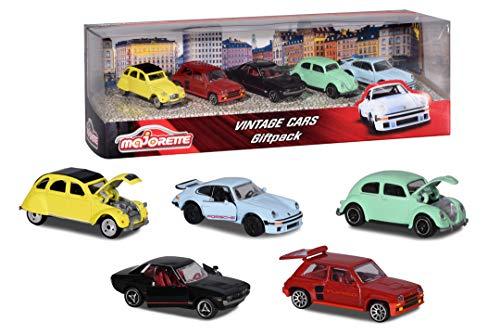 Lot de 5 voitures vintage miniatures en métal Majorette