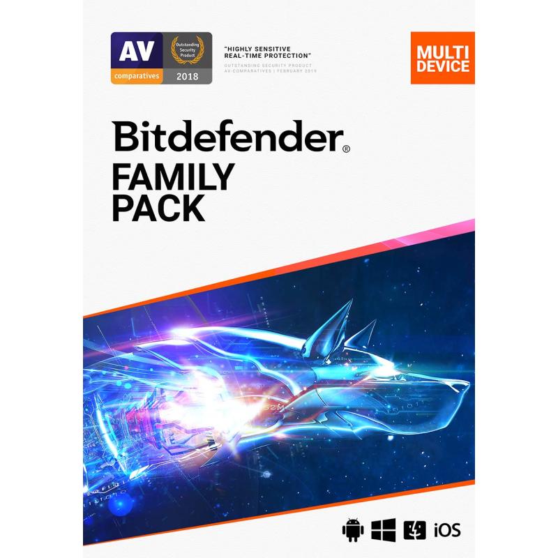 Licence Bitdefender Family Pack - 15 Devices, 2 Ans (Dématérialisé)