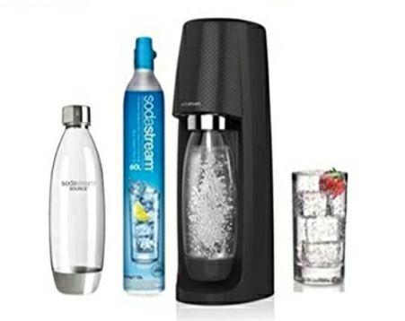 Pack Sodastream Spiritnfuse: Machine à Eau pétillante (Noir) + 2 Bouteilles Fuze 1L