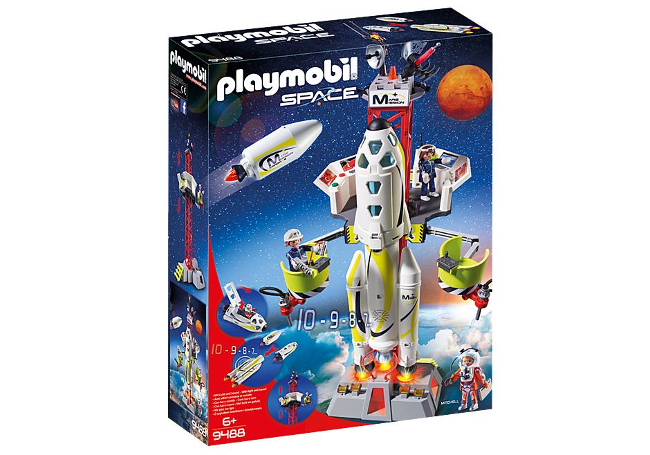 Jouet Playmobil Fusée Mars avec plateforme de lancement (9488)