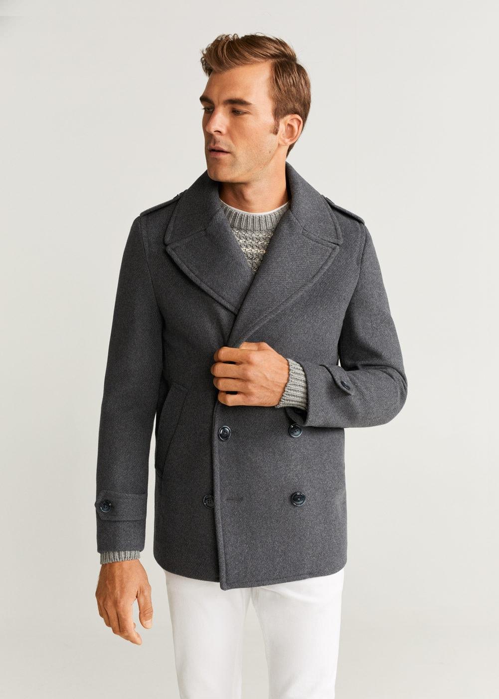 Sélection d'articles en promotion - Ex: Manteau Homme en laine à double boutonnage
