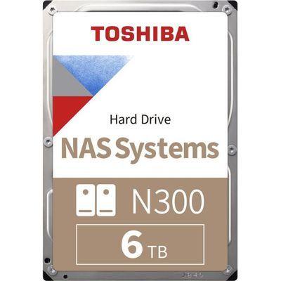 "Disque dur interne NAS 3.5"" Toshiba N300 (HDWQ140EZSTA) - 6 To, 7 200 tr/min, CMR"