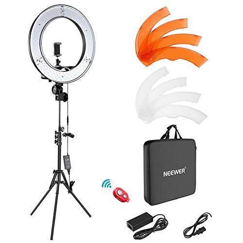 """Kit éclairage Photo Neewer Pro Ring Light 18"""" - 55W, 5500K (Vendeur tiers)"""