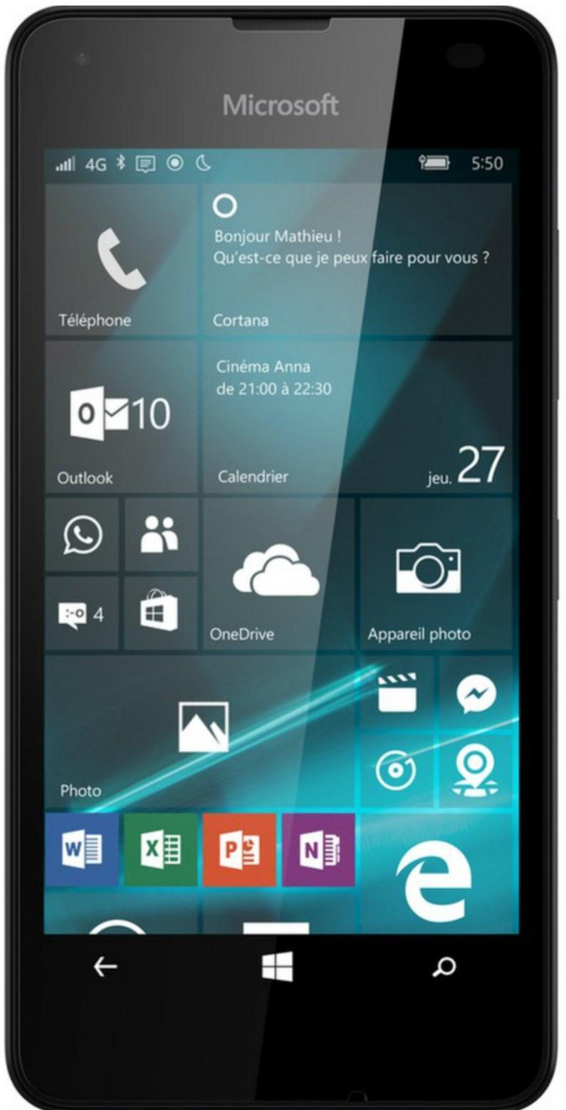 "Smartphone 4.7"" Microsoft Lumia 550 - 8 Go + Carte Micro SD Samsung Evo Plus - 32 Go"