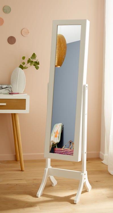 Miroir rectangulaire Psyché Bijoux - 37x145 cm