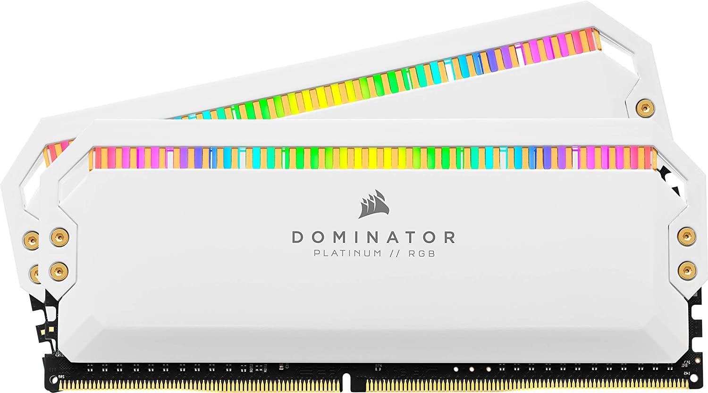 Mémoire RAM Corsair Dominator Platinum RGB - 16Go (2x8Go) DDR4, 3200MHz, C16