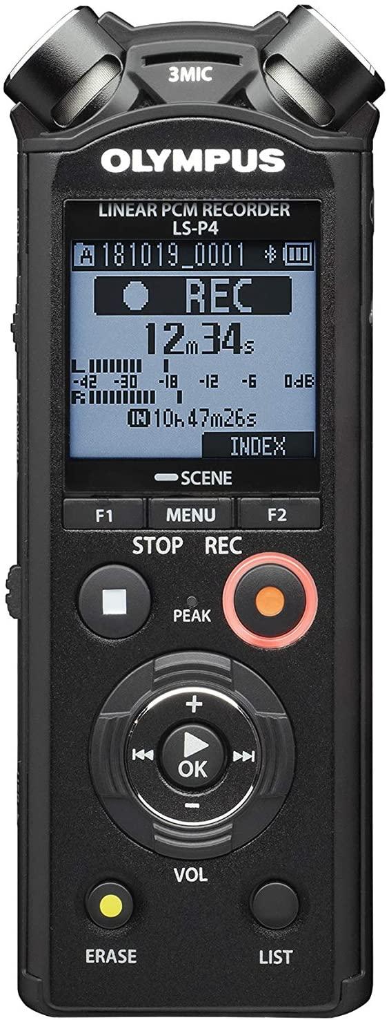 Enregistreur audio Hi-Res avec système de microphone Olympus LS-P4
