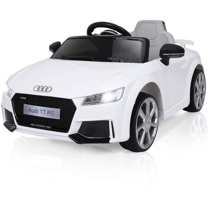 Voiture électrique pour enfants Audi TT RS E-ROAD - 12V, Télécommande incluse, Moteur 2x39W, Effets lumineux