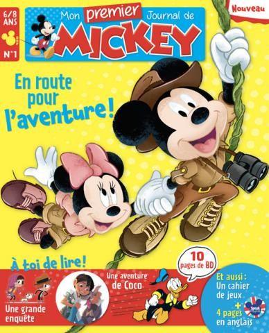 11.9€ Abonnement à Mon Premier Journal de Mickey pendant 12 Mois (6 numéros)