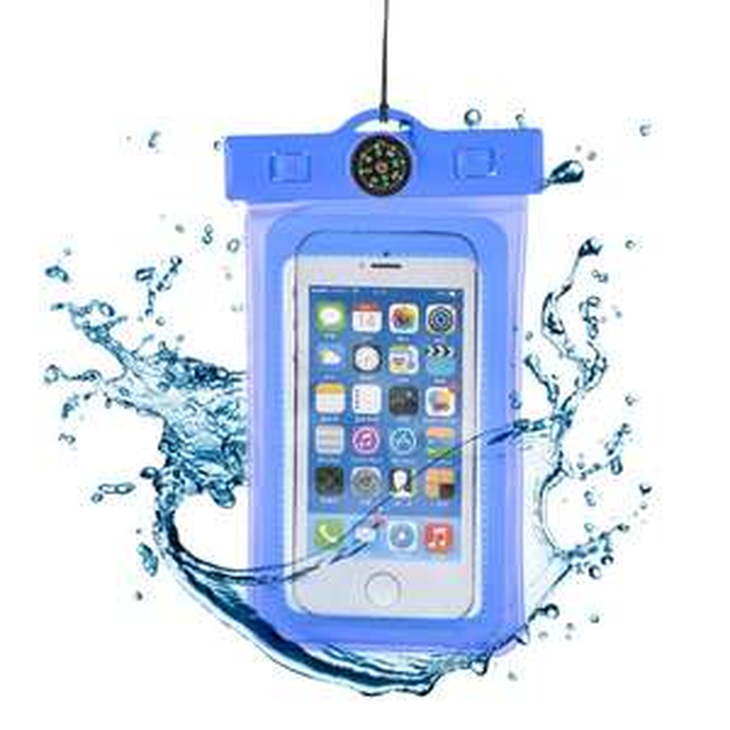 Étui étanche avec boussole intégrée ou Dry Bag Pouch étanche pour Smartphones - Ports inclus