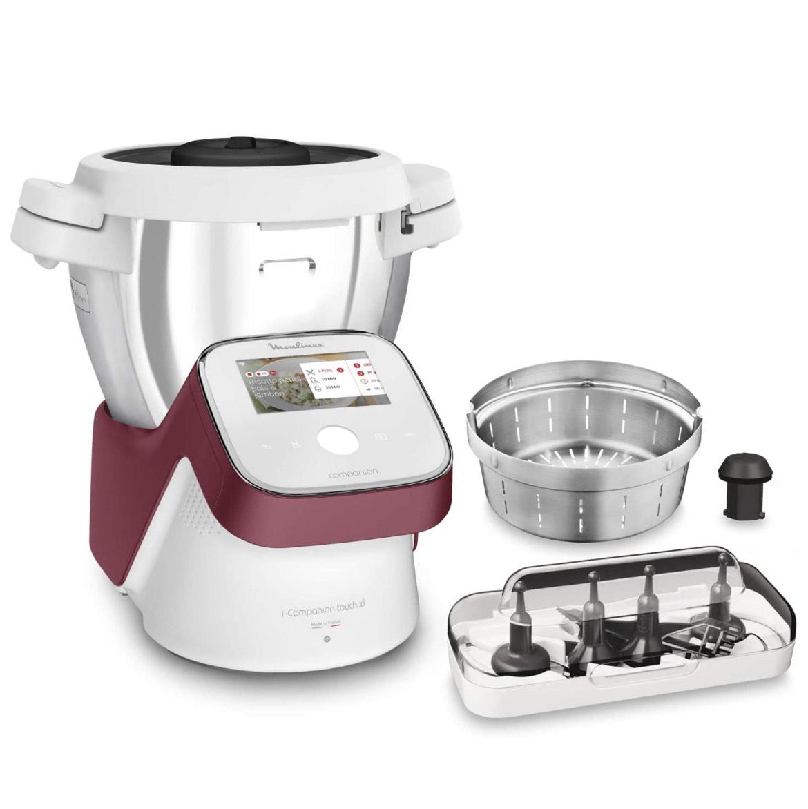 Robot Cuisine Multifonction Moulinex I-Companion Touch XL HF934510 - 10 Personnes, 14 Programmes