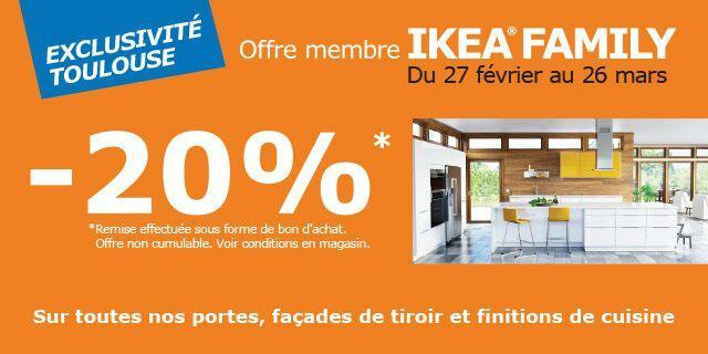 [Ikea Family] 20% offerts en bon d'achat sur les portes , façades de tiroirs et finitions de cuisine