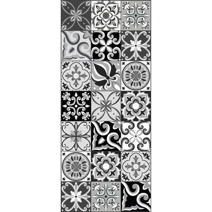 Tapis vinyle Amadora - Imitation carreaux de ciment - 49,5 x 112,5 cm
