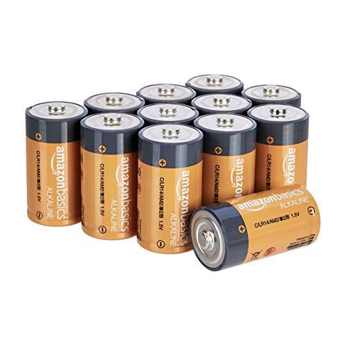 Lot de 12 piles AmazonBasics Alcalines C - 1,5 V