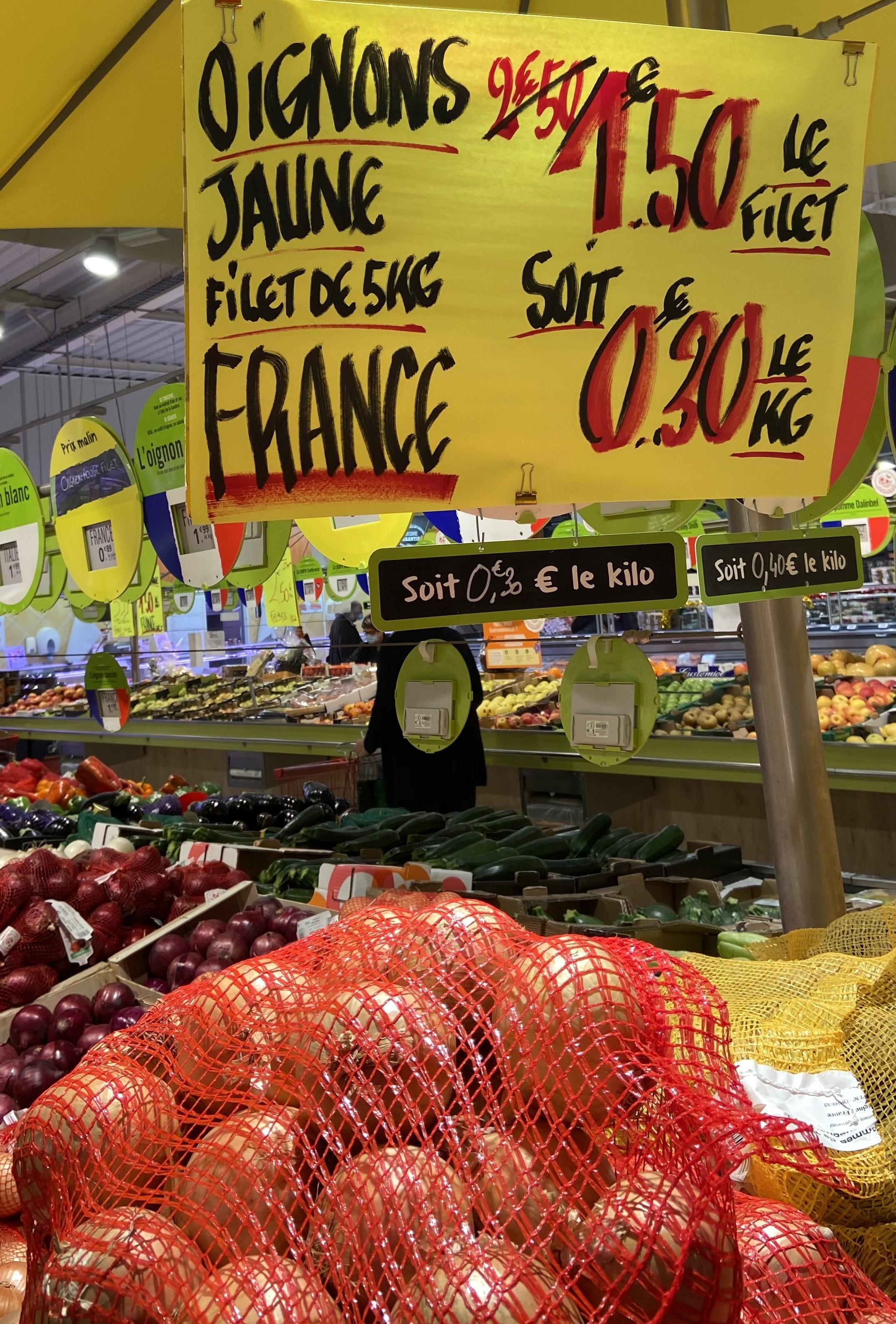 Filet d'oignons - 5kg -Romans-sur-Isère (26)