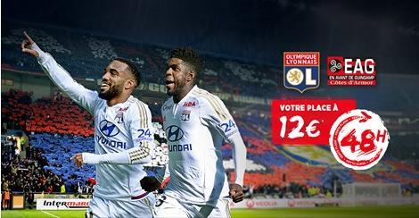 Place pour le match Lyon - Guingamp du 6 mars 2016 au Grand Stade