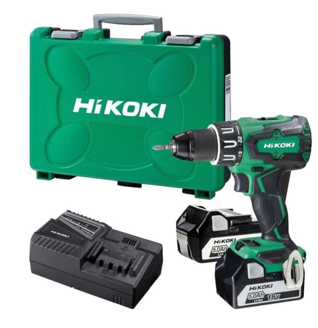 Perceuse visseuse à percussion Hikoki DV18DBSL - 18V + 2 Batteries de 5Ah + Malette de transport sans Charbon (Vendeur Tiers)