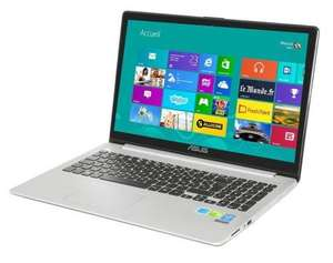 """PC Portable 15.6"""" Asus S551LN-CJ367H - Tactile, i7-4510U 2 GHz, RAM 6 Go, HDD 1 To + SSD 24 Go, NVIDIA GeForce GT840 (Reconditionné)"""