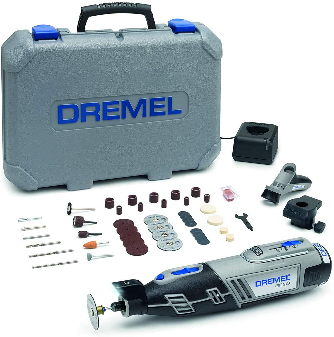 Outil Rotatif Multifonction Dremel 8220 + 45 accessoires