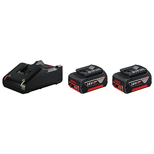 Pack de 2 batteries Bosch professionnel GBA 4,0 Ah avec set de base sans fil 18V
