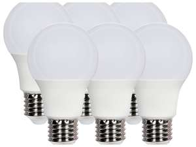 Lot de 6 Ampoules LED - E14, Light (6 W, 40 W), 470 lumen ou E27, light (5,5 W, 40 W), 470 lumen