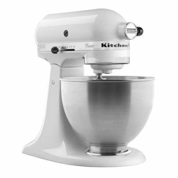 Robot pâtissier KitchenAid Classic Mini 5KSM3310X - Blanc