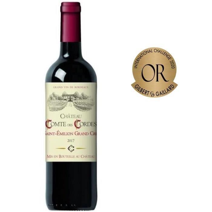 Sélection de vins en promotion - Ex: Bouteille de vin rouge de Bordeaux Château Comte des Cordes 2017 Saint-Emilion Grand Cru - 75 cl