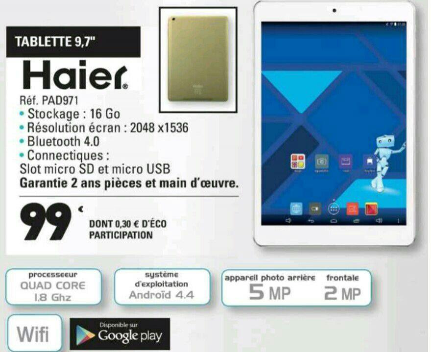 """Tablette 9.7"""" Haier Maxi Pad 971 - 16 Go"""